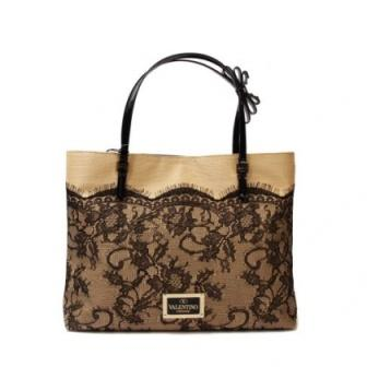 sac a main femme pas cher dentelle brun valentino